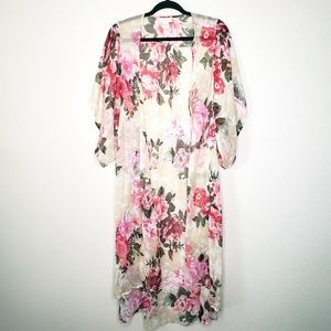 Band of Gypsies Floral Kimono Cardigan Duster  XS